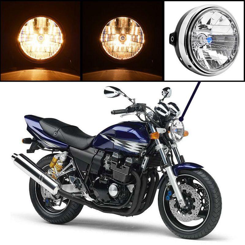 7 Motorcycle Headlight Lamp H4 Halogen Bulb 12V Bike Chopper Bobber Front Light For Honda CB400 CB500 CB1300 Hornet 250 600 90 Online With 4154 Piece On