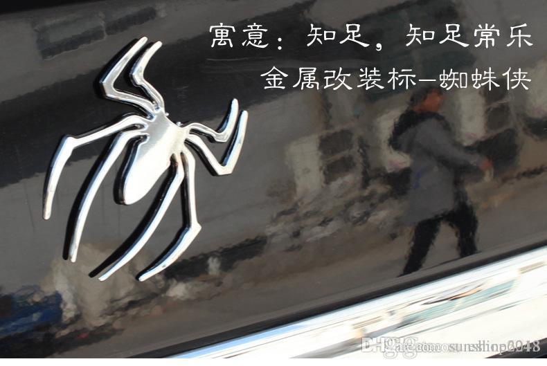 2016 yeni Moda Metal Kamyon Araba Sticker Dekor Styling Serin 3D Örümcek Amblem katı Arabalar Kamyon Logo Etiketler Çıkartması Ücretsiz kargo