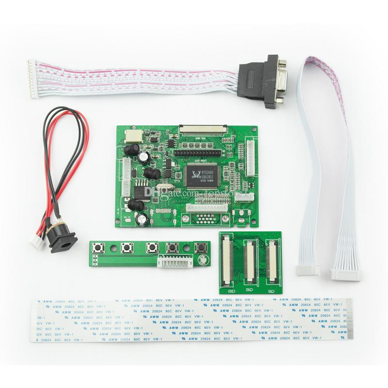VGA 2AV 50PIN TTL LVDS Driver Controller Board Module Monitor Kit for Raspberry PI 2 TFT LCD Screen Display Panel