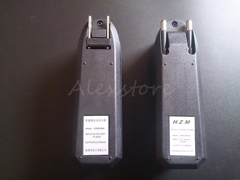 18350リチウムリチウムイオン電池18650リチウムイオン電池外部スマートチャージャーEU USシングルユニバーサル充電器3.7V 500mAh E Cig ECIG