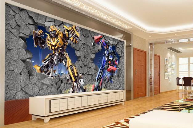 Großhandel Wandtapete Transformers Tapete Wandbild Wandtattoo Tapete ...