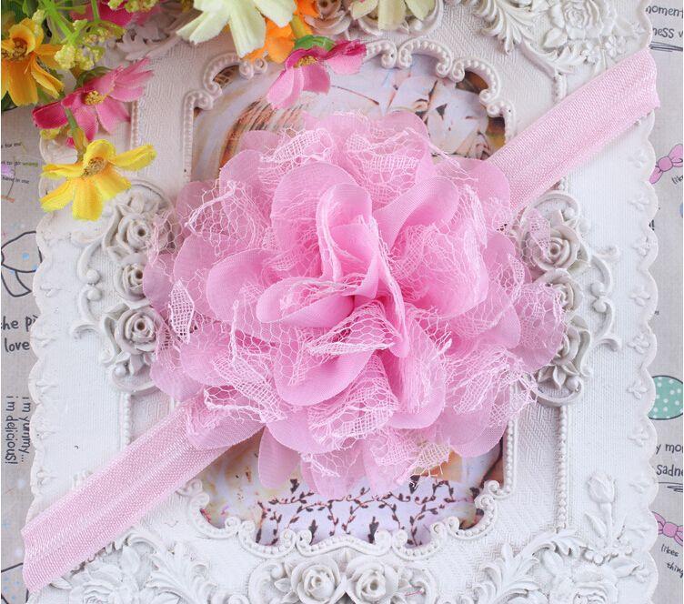 Baby Girl Headband Newborn Headbands Shabby Chic Flower Hairband Lace Headband Hair Accessories