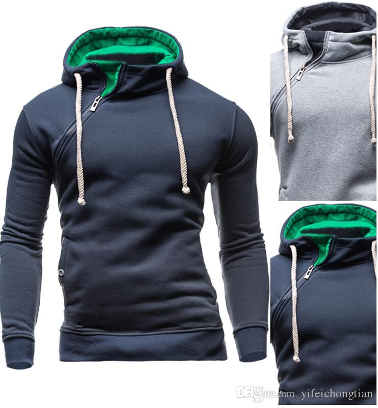 2018 Brand Sweatshirt Men Hoodies Fashion Solid Fleece Hoodie Mens ...