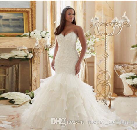 2017 New Wedding Dress Fishtail Slim Bra Small Tail Lace Wedding ...