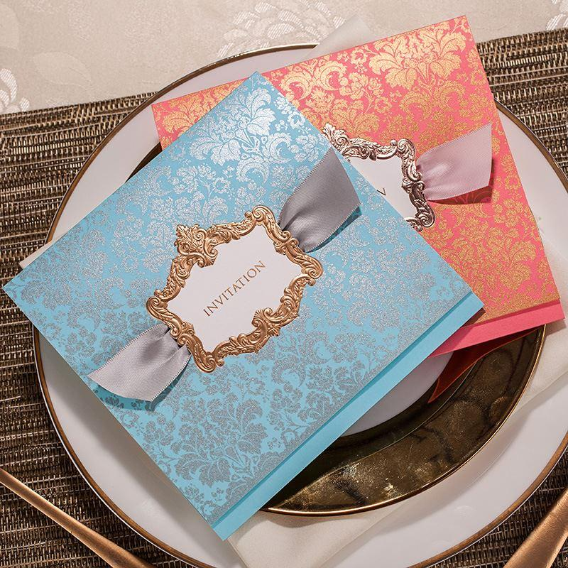 Luxury Wedding Invitations Cards with Envelopes, Seals Engagement ...