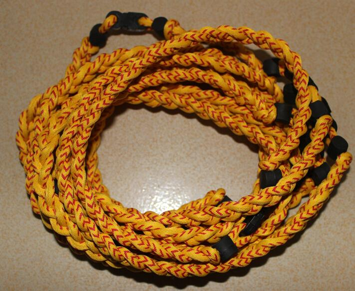2015 NEW titanium braided 3 ropes necklace tornado SPORTS football baseball new tornado necklace colorful via DHL