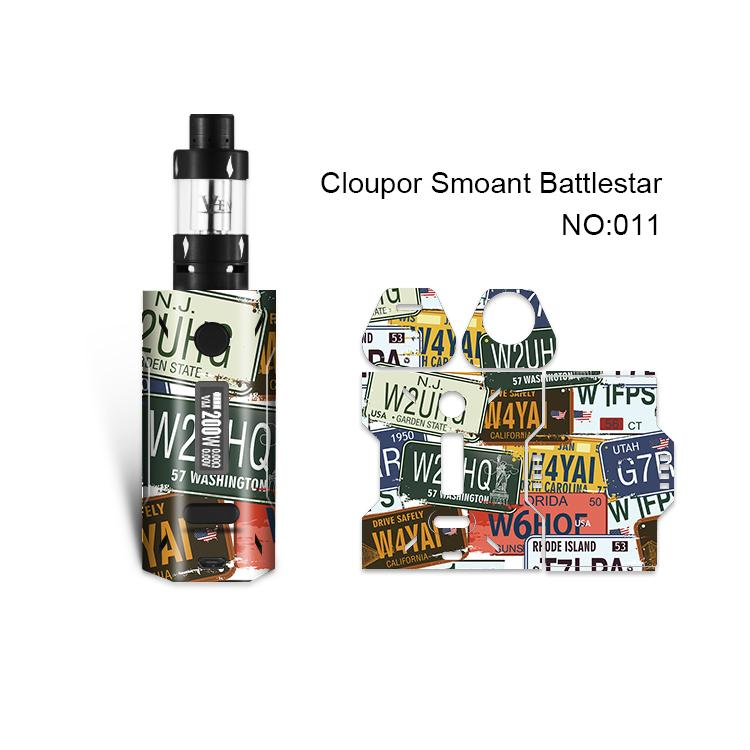 Smoant Battlestar Skin Printing Wraps Sticker Cases Cover for Cloupor Smoant Battlestar 200W TC Box Mod Protective Film Stickers 30Pattern