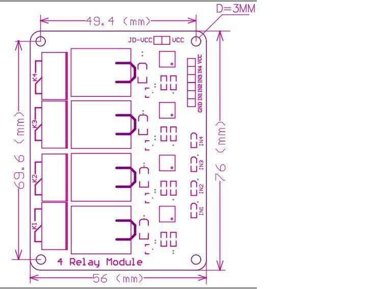 Module de relais 4 canaux avec optocoupleur. Module relais relais 4 sorties