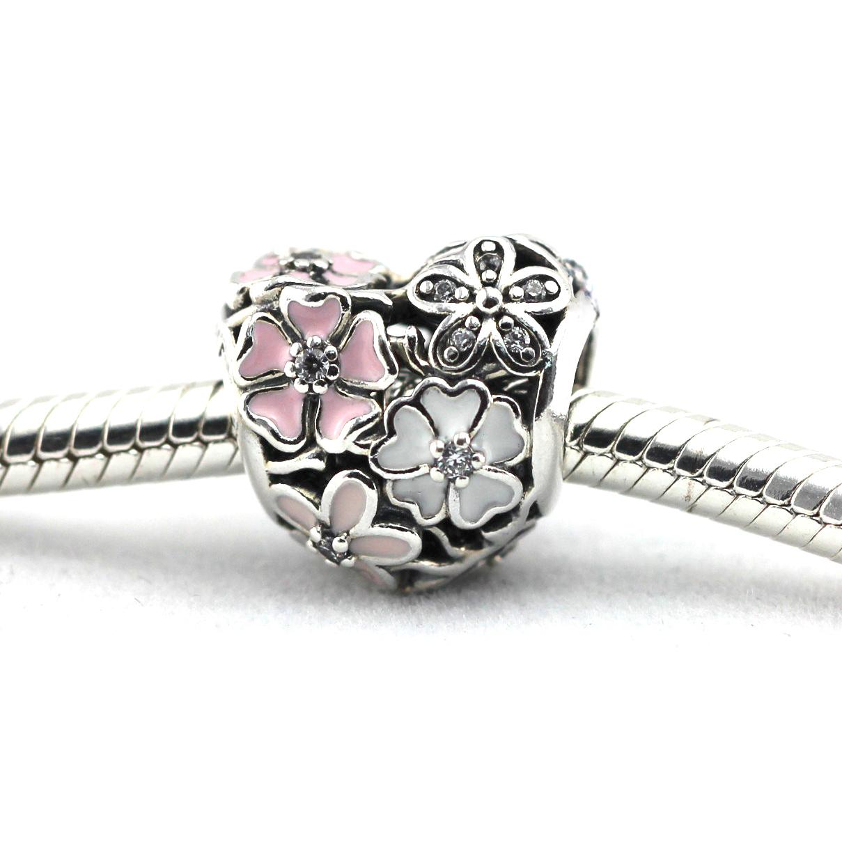 2016 primavera NEWEST original Authentic 925 sterling silver beads Flores Poetic Charme DIY se encaixa para pulseiras pandora atacado / lote