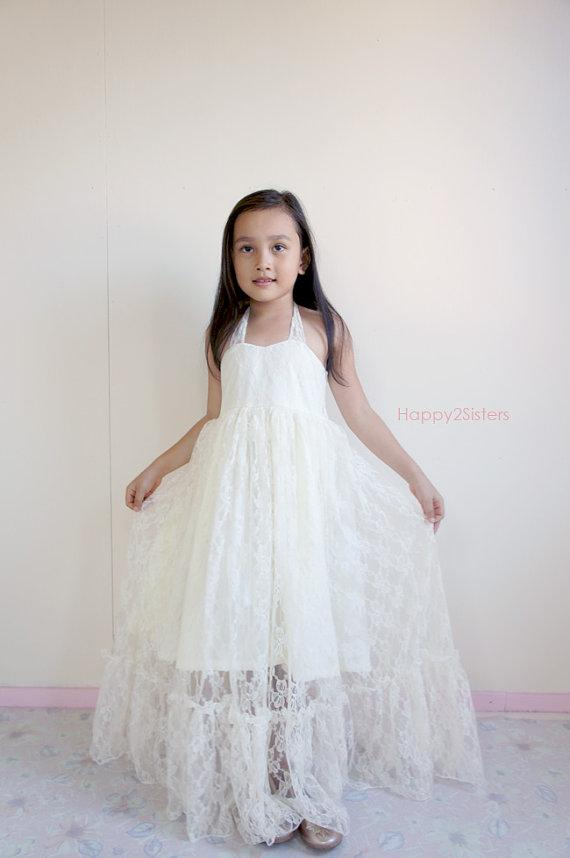 Off White Flower Girl Dresses