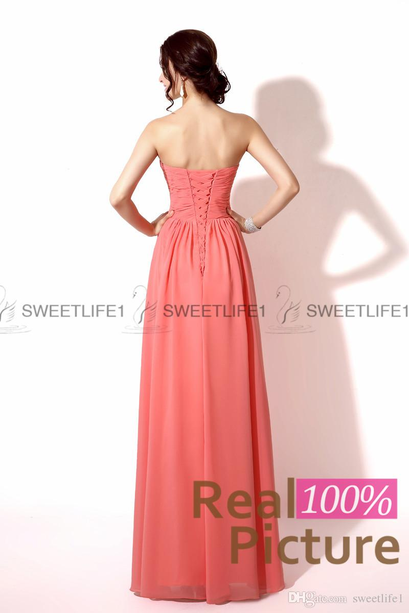 2020 Coral Bridesmaid Dresses Blush Mint Lilac Red Orange Chiffon Formal Maid of Honor Gowns A Line Sweetheart Floor Length Gowns