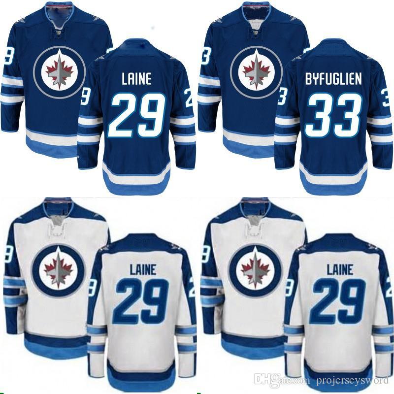 34888ddc89b 2019 Winnipeg Jets Jersey 26 Blake Wheeler 27 Nikolaj Ehlers 37 Connor  Hellebuyck 55 Mark Scheifele 57 Tyler Myers 81 Kyle Connor Hockey Jerseys  From ...