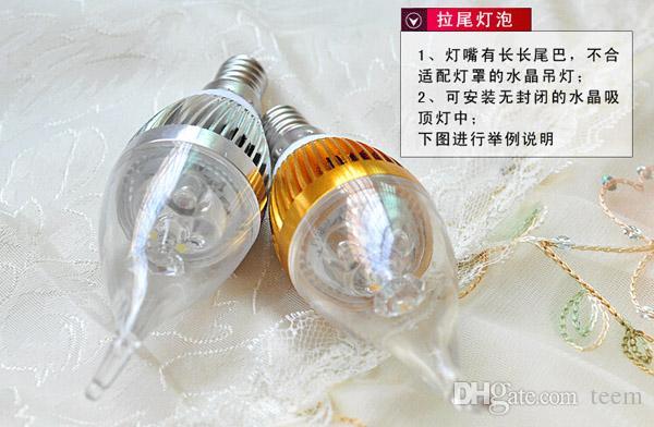 Am billigsten !! 6W CREE LED Kerzebirne E14 E27 Lichtlampe hohe Leistung führte Downlight führte hinunter den Lampenleuchter, der 220-240V + CE ROHS X50 beleuchtet