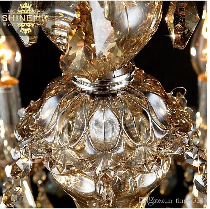 Nowoczesny Kryształowy Żyrandol Home Oświetlenie Szampańskie Żyrandole i Wisiorki Salon Lampa Kryta D950mm H850mm Darmowa Wysyłka