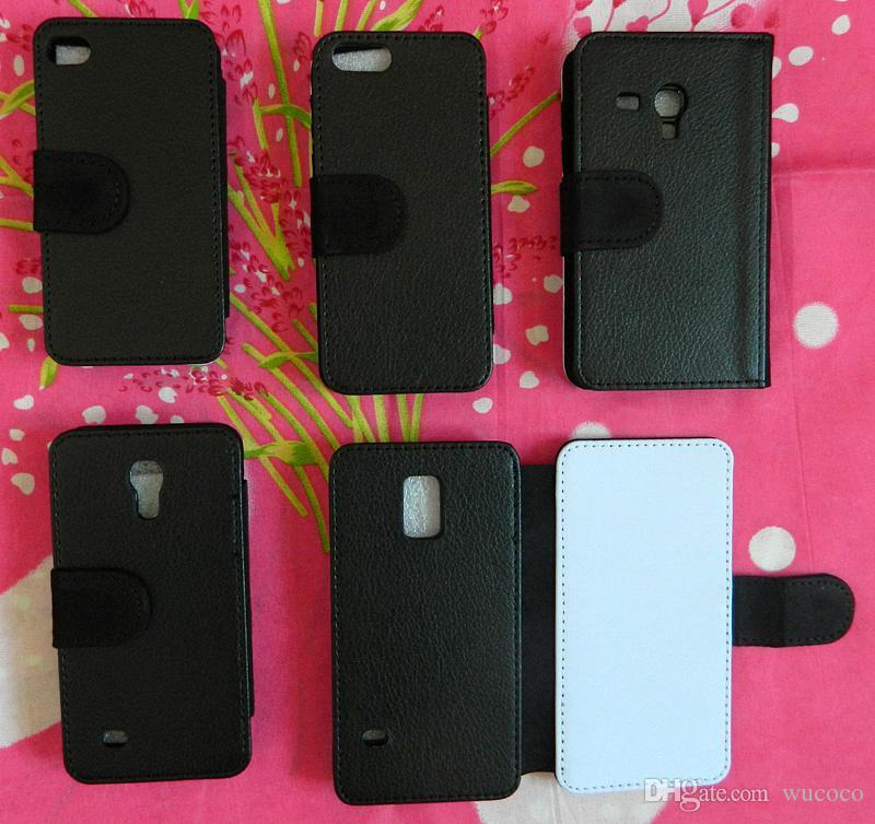 Wholsale Mix do iPhone 4S 5S 5C S3 Mini S4 Mini S5 Mini DIY Puste Flip Leather Sublimation Case With Slot Darmowa Wysyłka 200 sztuk / partia