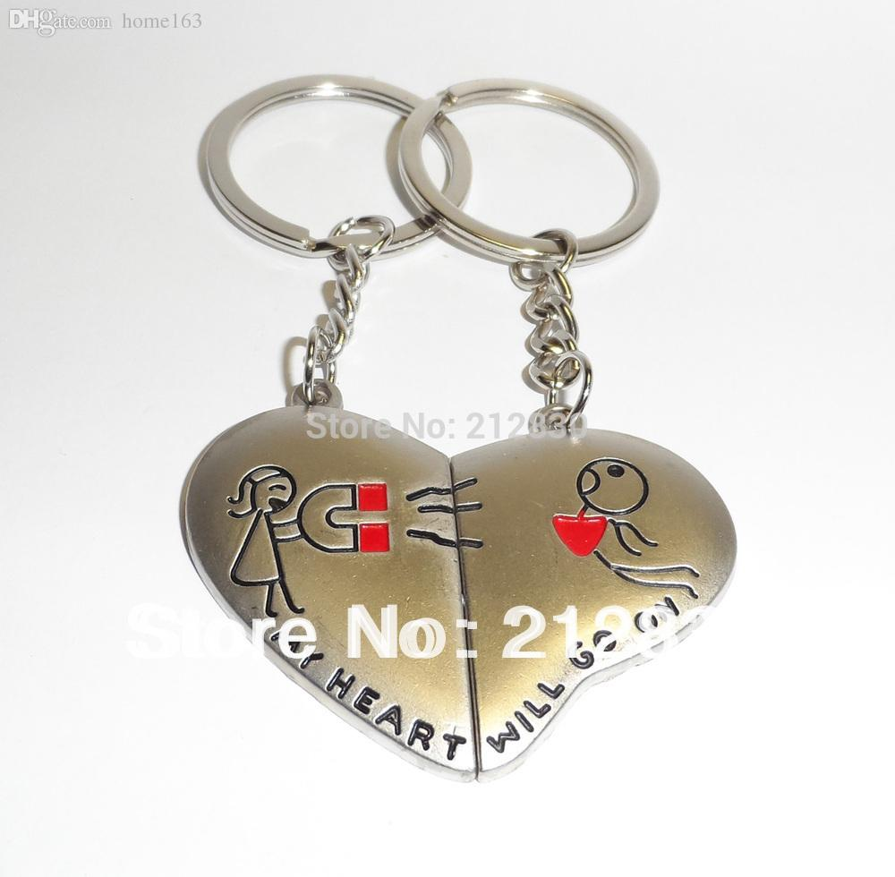 Wedding Ring On Chain Boy Or Girl: Lover Couple Key Ring Chain Magnet Heart Boy Girl Wallet