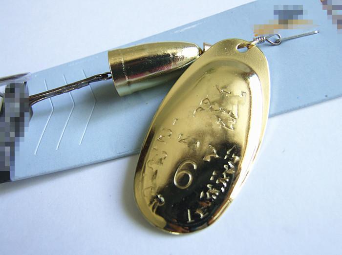 Pêche Lure métal Spinner Bait VIB crochet Lames 3 couleurs Carp Bass Fishing Lure # 1 # 0 2 # 3 # 4 # 5 # 6 #