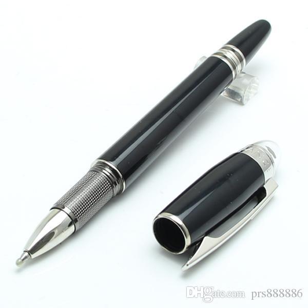 ترف مون القلم الأسود برميل الأسطوانة الكرة قلم حبر القلم على رأس القرطاسية هدية العلامة التجارية القلم لكتابة هدية