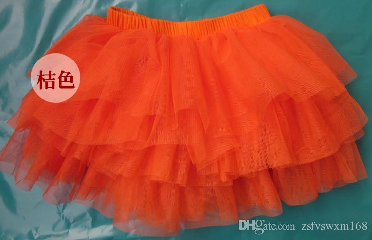 الفتيات بلون تنورة وحجاب نصف الحلوى الملونة في الربيع والخريف تنورة كعكة توتو تنورة قصيرة