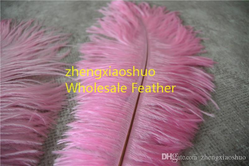 wholesale 14-16inch 35-40cm light Pink Ostrich Feather Plumes for Wedding centerpiece christmas event feather decor