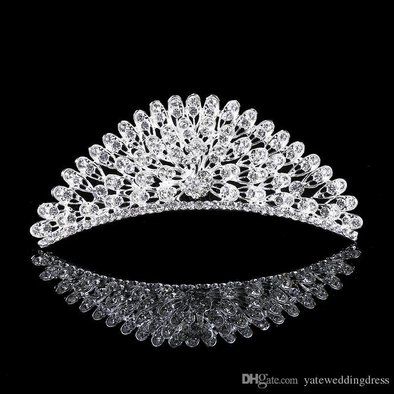 Best Selling Crystal Bridal Tiara bruiloft accessoires met kam hoge kwaliteit goedkope bruidskop accessoires formele evenement hoofdkleding 2016