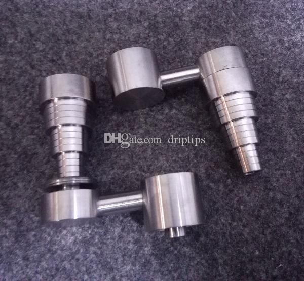 10mm 14mm 18.8mm 6 In 1 Titanium Nail with Arm male and female joint for glass bong water pipe in stock