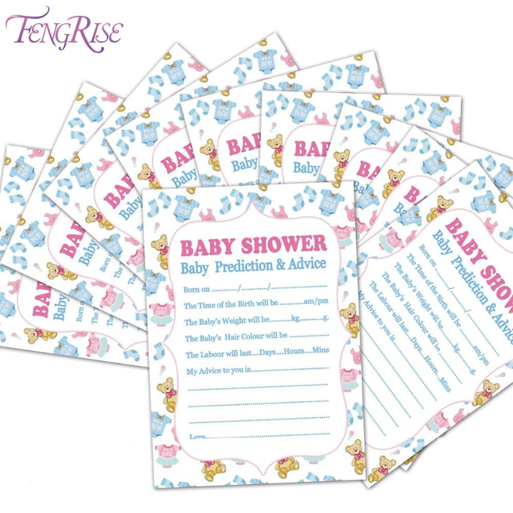 Wholesale Fengrise Baby Shower Prediction Advice New Mummy Card Its