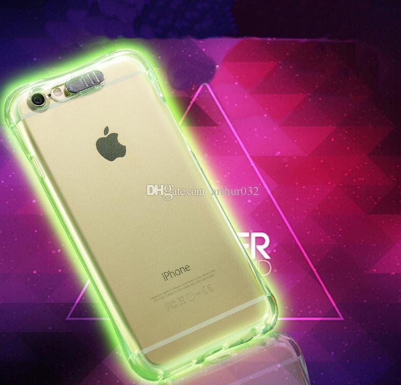 Cool Calling Light Up Case For Iphone 8 7 6 Plus Ultra Thin TPU LED Flashing Lighting Incoming Reminder Phone Cover For Samsung S8 S7 Note 8