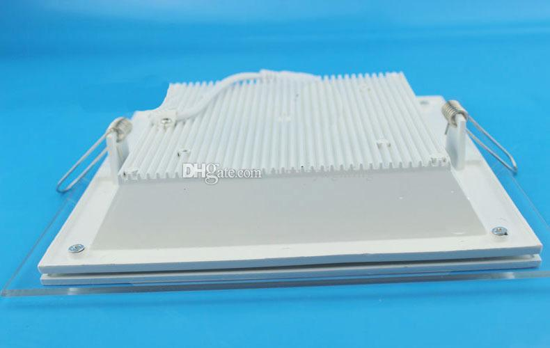 LED Down Lights Einbau-Glas Downlight Round Square LED-Deckenplatte Licht Cool Warm White LED-Beleuchtung AC100-240V CE SAA