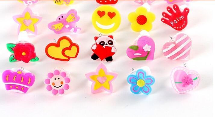 Мигающий желе из светодиодов мультфильм кольцо пината наполнители дети девушка ну вечеринку благосклонность танцевальная вечеринка подарки на день рождения светодиодные игрушки