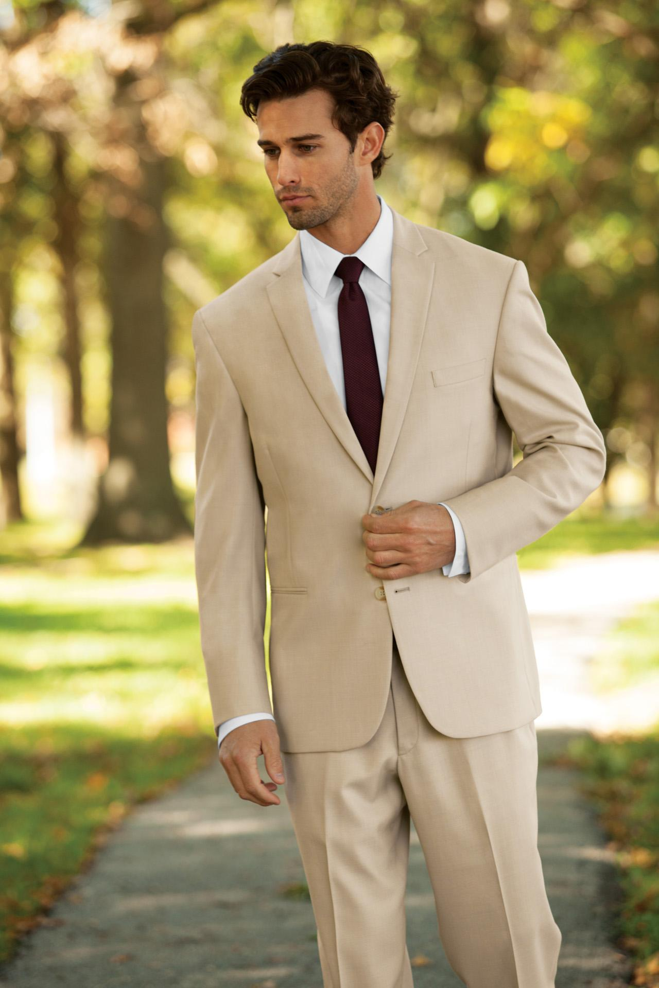 2017 Cheap Best Men Tuxedos Beige Suits For Mens Handmade Two ...