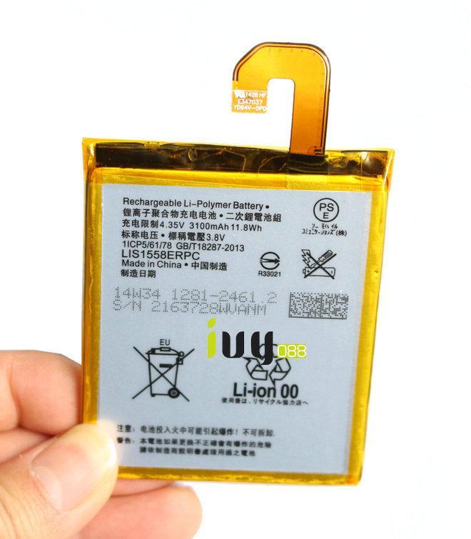 100% Orijinal Orijinal LIS1558ERPC 3100 mAh Yedek Pil SONY Z3 L55 L55T L55U D6603 D6653 D6616 D6633 Piller Batteria Batterij