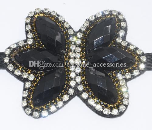 Women Rhinestone Hairband Crystal Butterfly Handmade New Fashion Hair Accessories High Quality Hair Jewelry for Wholesale