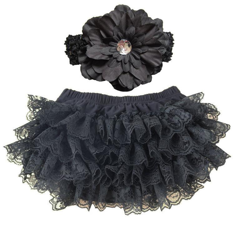 Filles Chevron Ruffles pp pantalons fleurs ondulées + fleurs de pivoine Serre-tête ensemble bambin sous-vêtements vêtements culottes shorts d'été E011