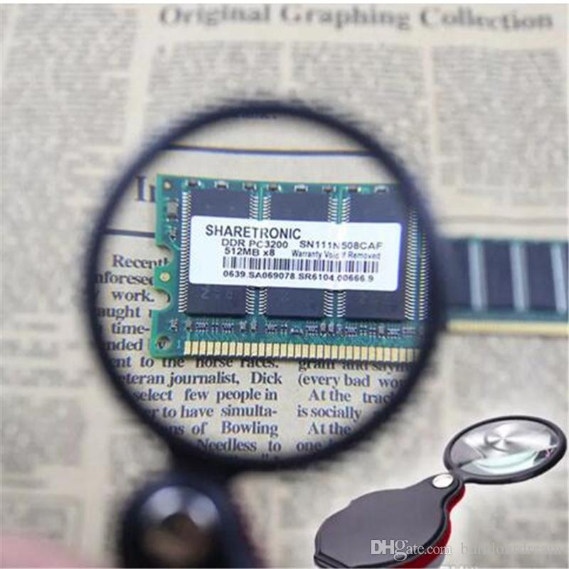 Portátil Mini Negro 50mm 10x Lectura de Mano-Sosteniendo Magnifying Magnifier Lens Glass Joyería plegable Loop Jewelry Lupes aa25-30