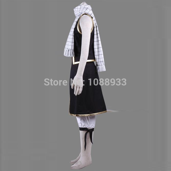 New Japanese Anime Fairy Tail Cosplay Adult Natsu Dragneel Costume Halloween Party Costume for Men Plus Size Custom