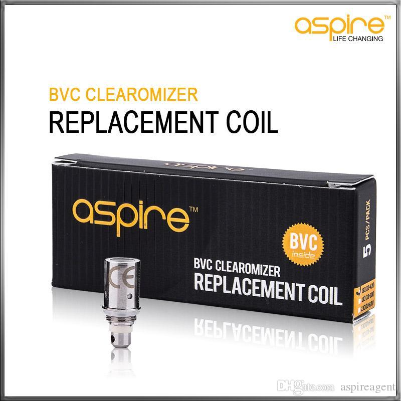 100% Original Aspire BVC Coils Head For Aspire BDC Atomizers CE5 CE5S ET ETS Vivi Nova Mini Vivi Nova BVC Replacement Coils Authentic