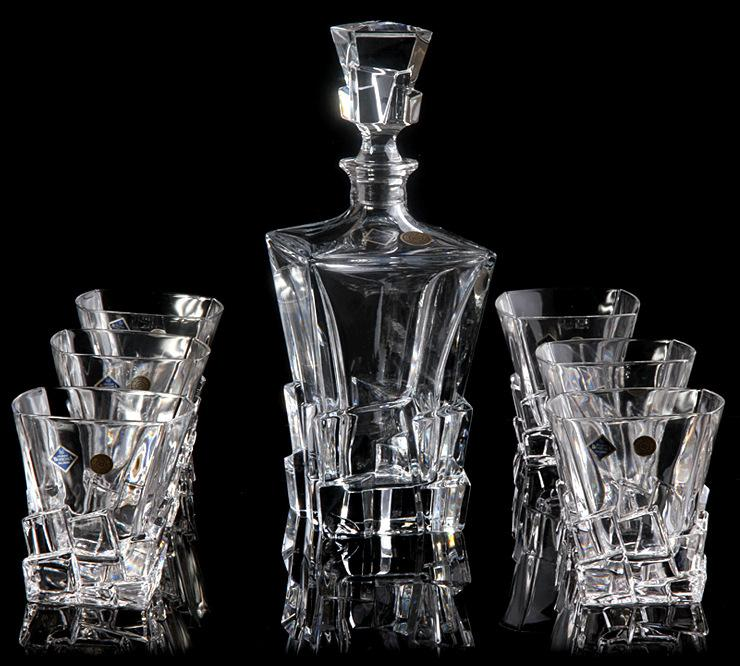 High Quality 2018 Barware Bar Sets Czech Imports Bohemia Crystal Whiskey Wine Set  European Ocean Bottle Glass Set From Davidkau, $703.52 | Dhgate.Com