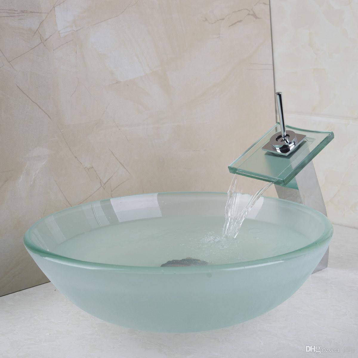2018 40678221a Bathroom Wahs Basin Set Glass Basin And Faucet Taps ...