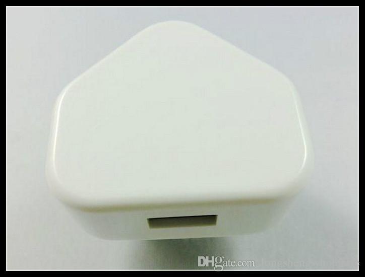 التي كاملة 1000MA المملكة المتحدة التوصيل USB الجدار شاحن AC محول للحصول على الهاتف الذكي الروبوت الهاتف الخ دي إتش إل الشحن المجاني