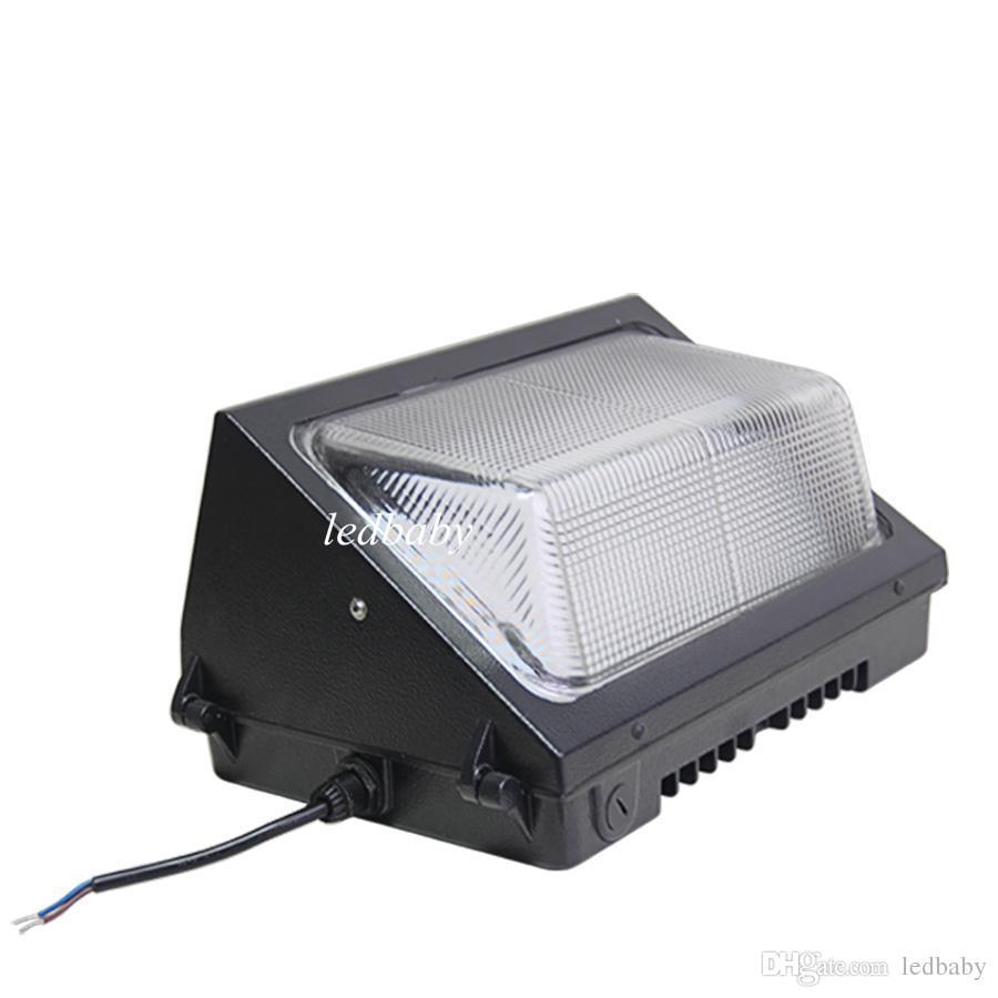 2016 DHL libre AC110-277V IP65 60W 80W llevó la lámpara de la luz del paquete de la pared lámpara llevada montada en la pared al aire libre de la lámpara equivalente 400W de la lámpara del wallpack