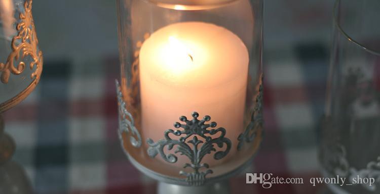 Candle Power Dinner Requisiten Romantische Hochzeit Candlesticks Restaurieren alter Wege Innenausstattung Tisch Artical Candle Holders