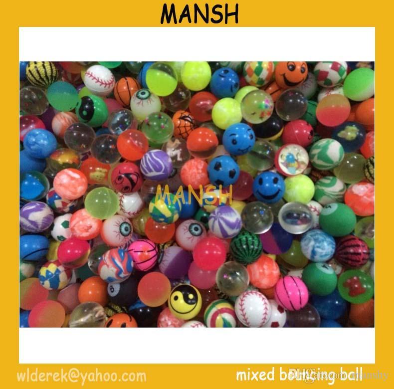 27mm gemischter Gummi mit hohem federnd guter Qualität Spielzeug Ball Sprungkugel / geben Verschiffen hüpfenden Ball