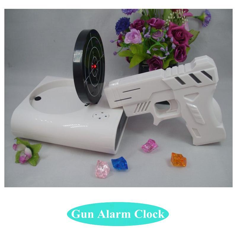 Gun Alarm Clock Target Wake Up Shooting Game Toy Novelty: Online Cheap Novelty Gun Alarm Clock Lcd Laser Gun