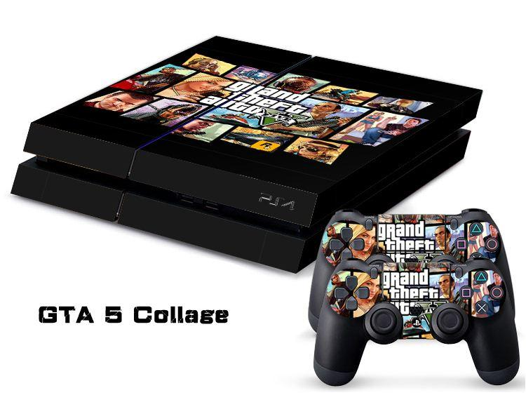 gta 5 collage ps4 sticker ps4 skin ps4 stickers for. Black Bedroom Furniture Sets. Home Design Ideas