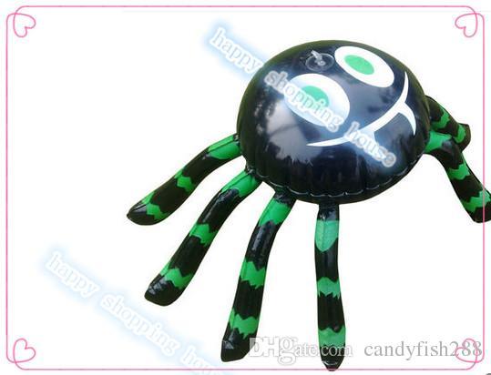 Ücretsiz kargo 2 adet terör örümcek Olay Parti malzemeleri Cadılar Bayramı şişme arachnephobia örümcek çubuğu merkezi dekorasyon okul