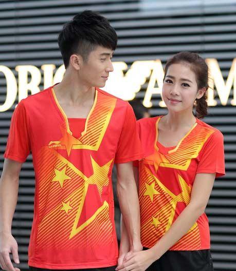 Recién llegado El último uniforme nacional de LI-NING CHINA Ropa de tenis de mesa Hombres, camiseta de tenis de mesa
