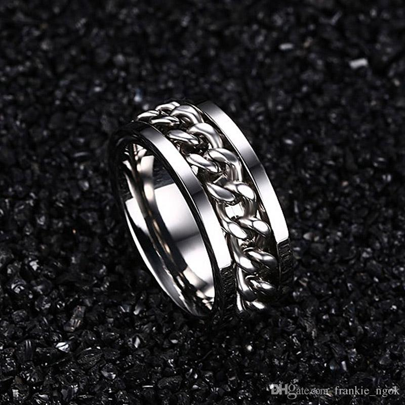316L Stainless Steel IP Silver Plated High Polished Men Fashion Rings 8mm Size 6-15
