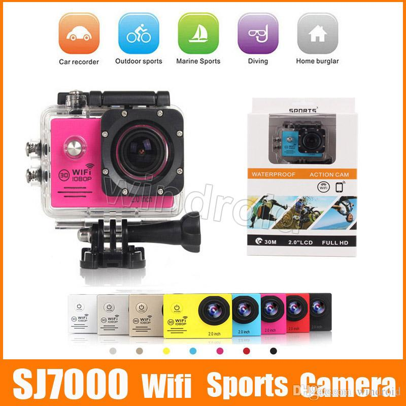 ec020de67c3 SJ7000 Wifi Version 2 Screen HD Action Camera Mini DV 30M Waterproof  Extreme Sport Sports Camera HDMI 1080P 170° Retail Box Cheapest Camera  Miniature Best ...
