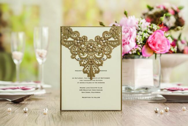 2016 new elegant wedding invitations cards unique invitations 2016 new elegant wedding invitations cards unique invitations golden wedding invitations laser cut fiche free of charge text printing cw5239 snowflake stopboris Gallery